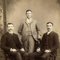 "Image of Print, Photographic - Copies: 1 (  1 original)  ""Daniel, William and Matthew Murphy Jim Murphy s brothers."" (back)"