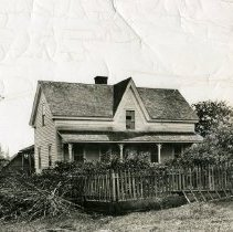 """Image of Print, Photographic - Copies:  1 ( 1 copy)   """"Robert Newell House"""" (back)"""