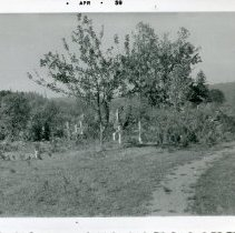 """Image of Print, Photographic - Copies: 2 (originals)  """"Cemetery of Grand Ronde Reserve"""" (back of both copies)"""