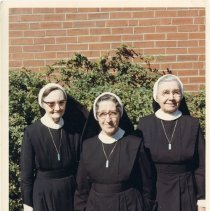"""Image of Print, Photographic - Copies: 1 (original)  """"Left to right Sister Philomena Sister. M. Jude ?"""" (back)"""