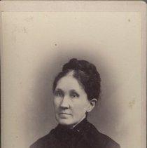 "Image of Card, Cabinet - Portrait of Virginia L. Moores. On back: ""Virginia L. Moores, Salem, Oregon 1884"", handwritten."