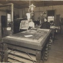 Image of Print, Photographic - Salem printing office.