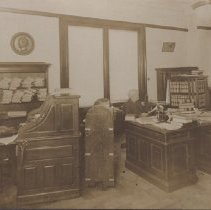 Image of Card, Cabinet - Unknown office; unidentified man and woman.