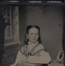 Image of Tintype - Portrait of Mary Stinson, later Mrs. R. E. Moores.