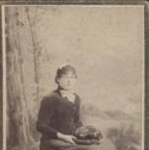 Image of Card, Cabinet - Studio photo of Irene Stinson.