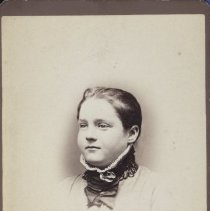 Image of Card, Cabinet - Studio portrait of Irene Stinson as a young girl.