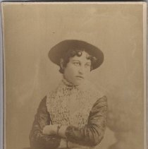 Image of Card, Cabinet - Studio Portrait of Nellie Smith