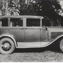 Image of Print, Photographic - Photograph of a 1930 Model A Ford owned by Clarence Goffin and Zoe McCormick.  Information obtained from an envelope that the photo is stored in.