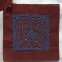 Image of Unknown Hmong, Flower Cloth (shown as attached to 2011.10.95iii)