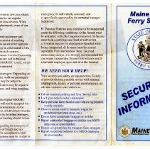Image of Maine State Ferry Service Security Info brochure