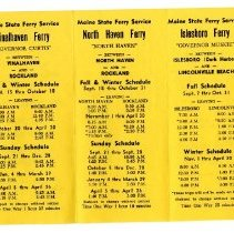 Image of Ferry Timetable 1969-1970