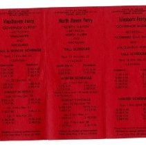 Image of Ferry timetable 1973-1974