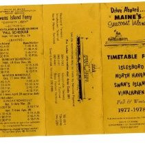 Image of Ferry timetable 1977-1978