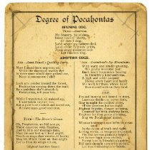 Image of Degree of Pocahontas card A.