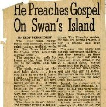 Image of 'He Preaches Gospel on Swan's Island.'