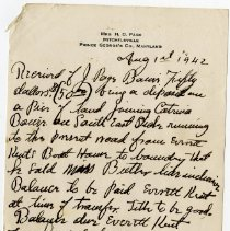Image of Letter to Mrs. Page from Everett Kent