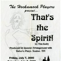 "Image of ""That's the Spirit"" program a."
