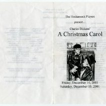 "Image of ""Christmas Carol"" program a."
