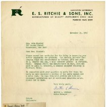Image of E.S. Ritchie & Sons letter a.