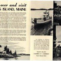 Image of Swan's Island advertising brochure B.