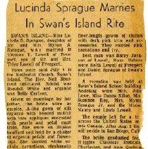 Image of 'Lucinda Sprague Marries in Swan's Island Rite'