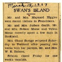 Image of 'Swan's Island' article
