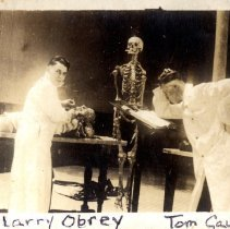 Image of Larry Obrey and Tom Cauble at Dental School - Thomas W. Cauble Family Photograph Collection