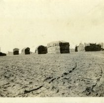 Image of Hay stacks - Schoening Photograph Collection