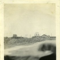 Image of Burned hay shed - Schoening Photograph Collection