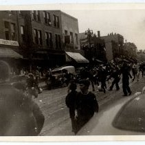 Image of Street scene of a downtown business district - Novia James White Photograph Collection