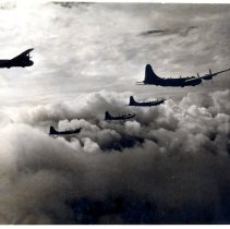 Image of Five B-29 aircrafts  - Novia James White Photograph Collection