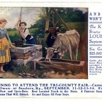 Image of Tri-County Fair advertisement postcard - Postcard Collection