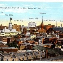 Image of Heart of the city of Louisville - Postcard Collection