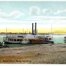 Image of Waterfront Ferry Landing - Postcard Collection