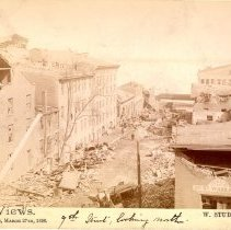 Image of 9th Street, looking north - W. Stuber & Brothers 1890 Tornado Views Photograph Collection