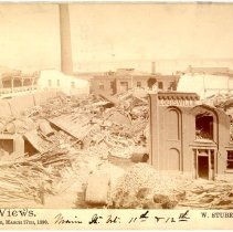 Image of Main Street between 11th and 12th - W. Stuber & Brothers 1890 Tornado Views Photograph Collection