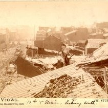 Image of 10th and Main Street - W. Stuber & Brothers 1890 Tornado Views Photograph Collection