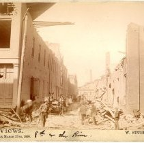 Image of 8th and River Streets - W. Stuber & Brothers 1890 Tornado Views Photograph Collection