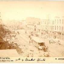 Image of 10th and Market Street - W. Stuber & Brothers 1890 Tornado Views Photograph Collection