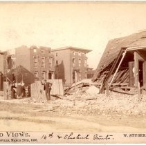 Image of 16th and Chestnut Street - W. Stuber & Brothers 1890 Tornado Views Photograph Collection