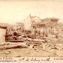 Image of 15th Street - W. Stuber & Brothers 1890 Tornado Views Photograph Collection