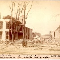 Image of Dr. Griffith's Home and Office - W. Stuber & Brothers 1890 Tornado Views Photograph Collection