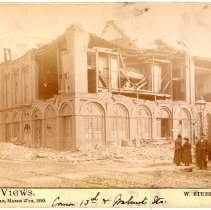Image of Odd Fellow's Hall - W. Stuber & Brothers 1890 Tornado Views Photograph Collection