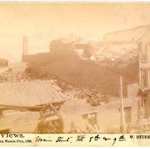 Image of Main Street  - W. Stuber & Brothers 1890 Tornado Views Photograph Collection
