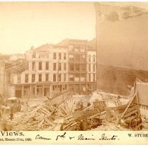 Image of 8th & Main Street - W. Stuber & Brothers 1890 Tornado Views Photograph Collection