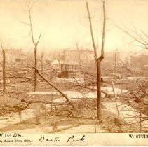 Image of Baxter Park area - W. Stuber & Brothers 1890 Tornado Views Photograph Collection