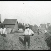 Image of Harvesting crops - Edward and Josephine Kemp Lantern Slide Collection