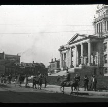 Image of Court House Square, Paris, Kentucky - Edward and Josephine Kemp Lantern Slide Collection