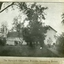 Image of Barnyard - Edward and Josephine Kemp Lantern Slide Collection