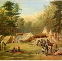 Image of Camp of the Third Kentucky Infantry, CSA at Corinth, May 1862 - Print Collection